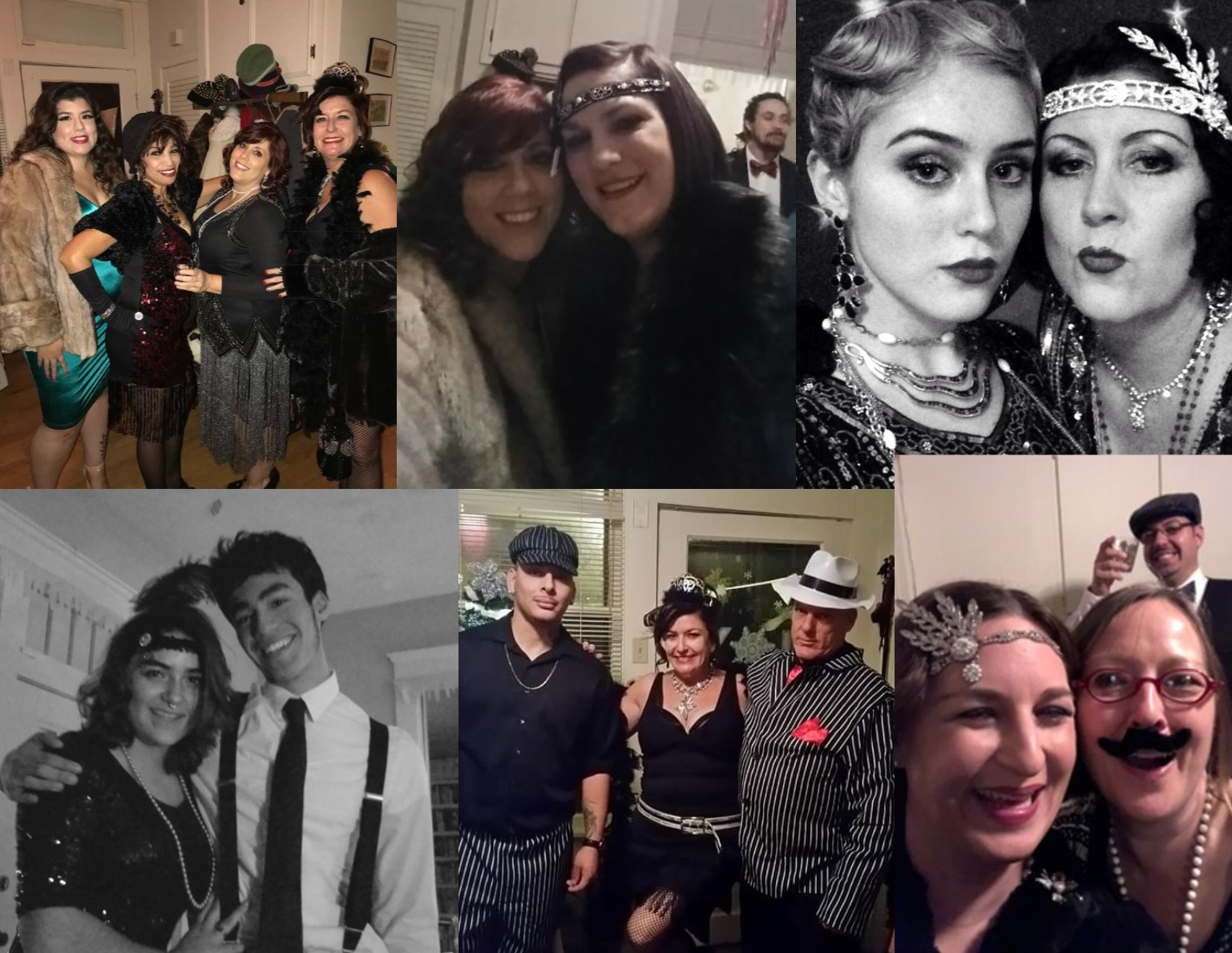 1920s New years Eve party 2018 costumes collage
