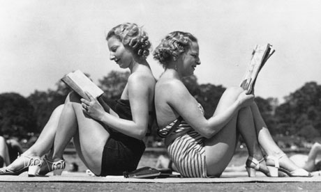 1930s girls in swimsuits summer reading