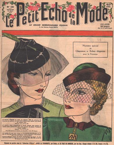 1935 vintage paris hat ad
