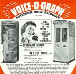 1940s voiceograph ad