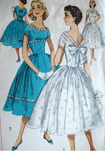 1950 Dress Pattern The Girl In The Jitterbug Dress