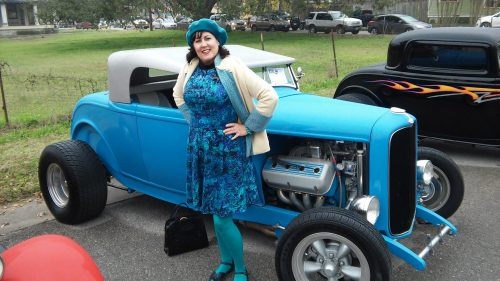 Hot rod and Hatters Vintage Fashion turquoise