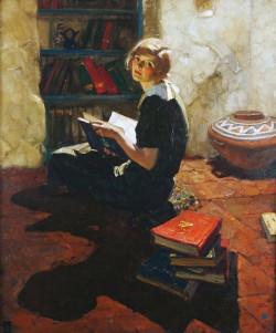 30s girl reading