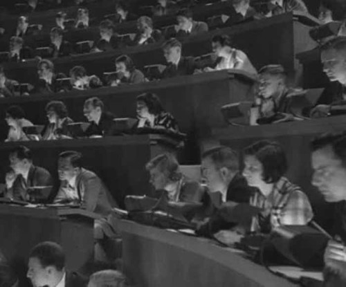 40s 50s college class writing