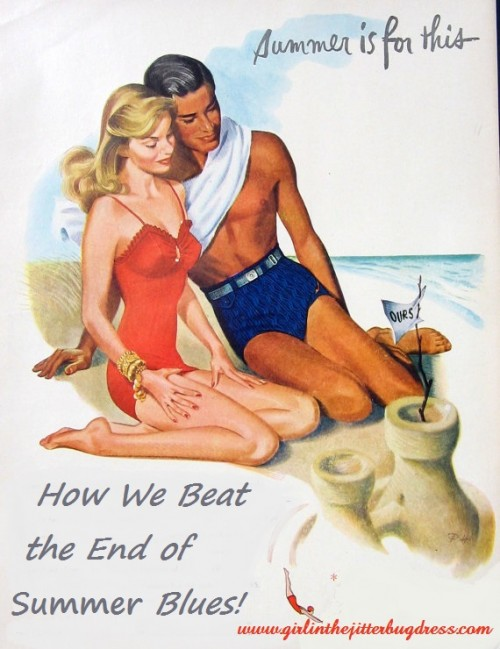 40s Couple Swimsuit Ad