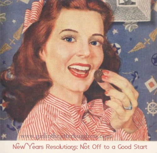 1940s girl eating candy