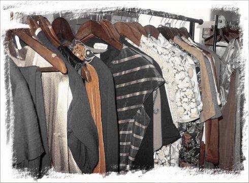 1940s rack of Vintage fashion