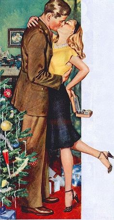 40s romantic christmas