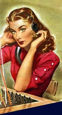 40s switchboard girl