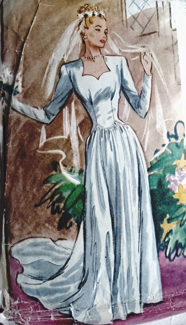 40s weddign gown picture pattern
