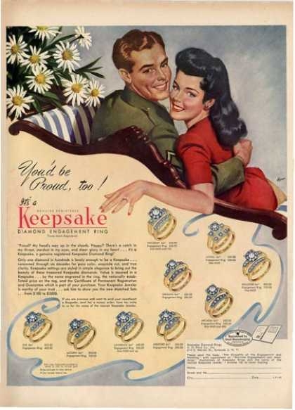 40s Wedding Ring Ad The Girl In The Jitterbug Dress