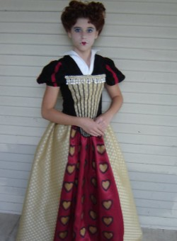 Alice in Wonderland Red Queen Dress