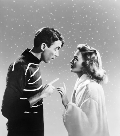 Donna Reed Jimmy Stewart snow