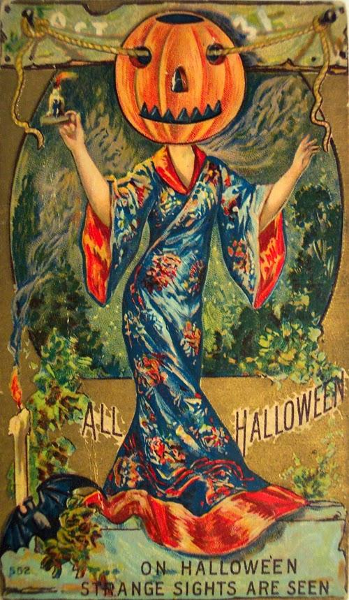 Vintage Halloween Postcards asian