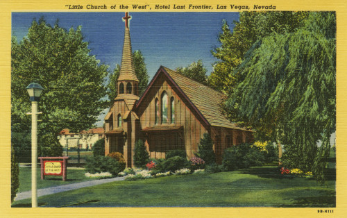 Little church of the west vintage postcard