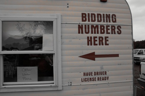 Vintage Get your Auction Bid Numbers