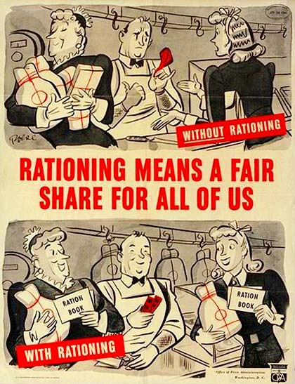 WWII Rations cartoon