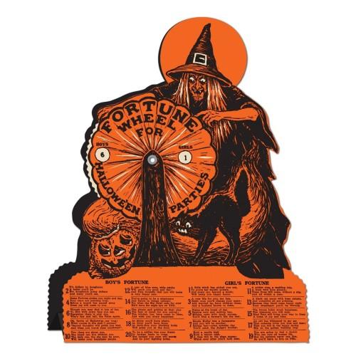 Vintage Halloween wheel-of-fortune