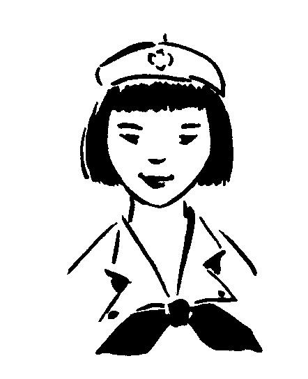 1940s 1950s vintage girl scout line art the girl in the jitterbug rh girlinthejitterbugdress com