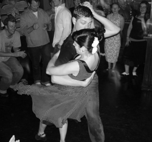 vintage style lindy hop picture