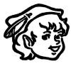 elfin brownie head girl scout clip art