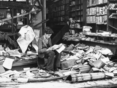 burned bookstore 1930s