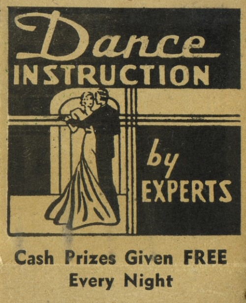 dance instruction old ad