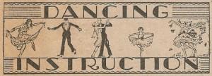 Vintage dancing instruction ephemera