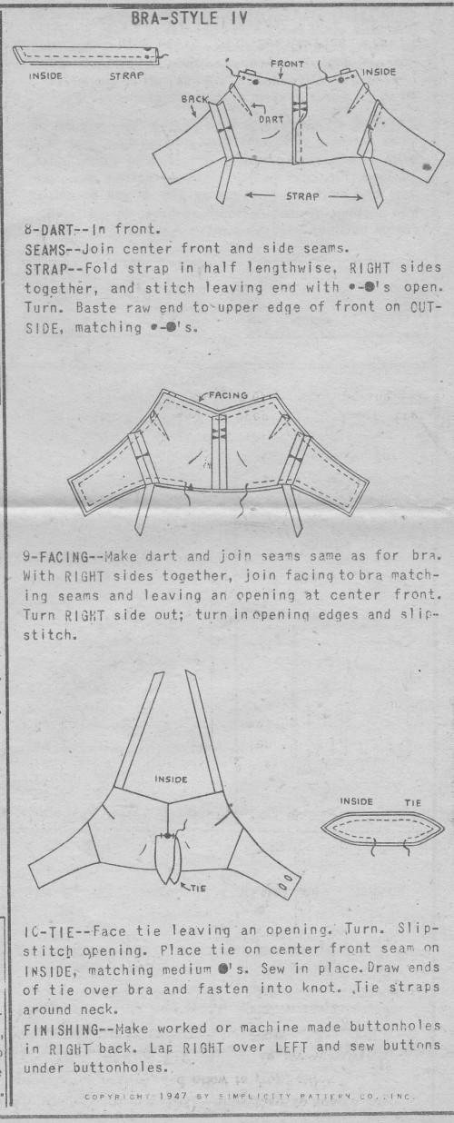 1940s halter pattern 4 instructions