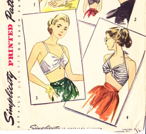 1940s 1950s halter sewing pattern
