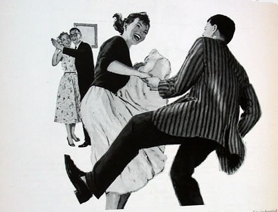 jiterbug black and white swing dance clipart