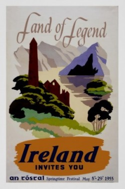 land of legend ireland vintage ad 1955