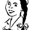 Latino mexican spanish girl scout vintage clip art