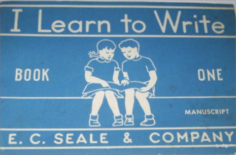 learn to write 40s 50s graphic