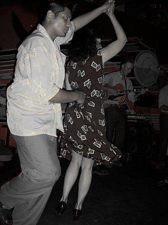 Vintage style lindy hop swirl