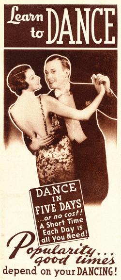 30s Dance Ad Vintage Jitterbug