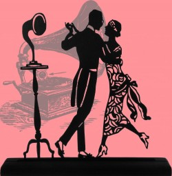 Balboa Swing Dance Jazz Style silhouette style Dancers