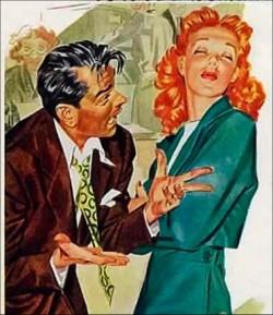 1940s redhead argument