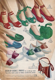 1940s Jitterbug Saddle Shoes and Wedgies