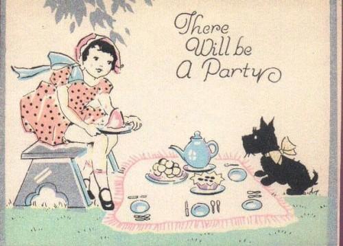 vintage scottie dog tea party