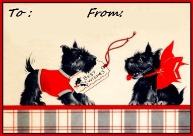 Scottie Dog Christmas Tags