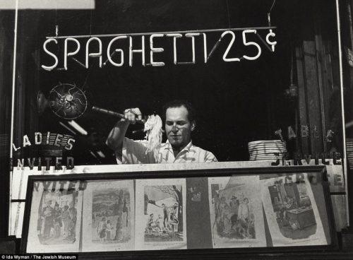 spaghetti 25 cents vintage Italian food