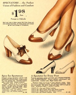 1940s Spectators Jitterbug Shoes