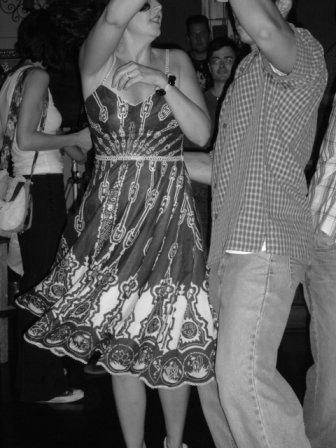 vintage style lindy hop swing dance