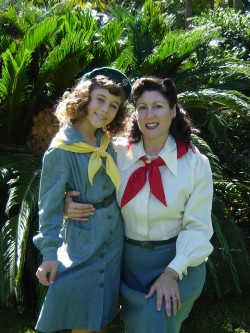 1940s style Vintage Girl Scouts Mom and Daughter