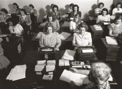vintage typing class 1930s 1940s