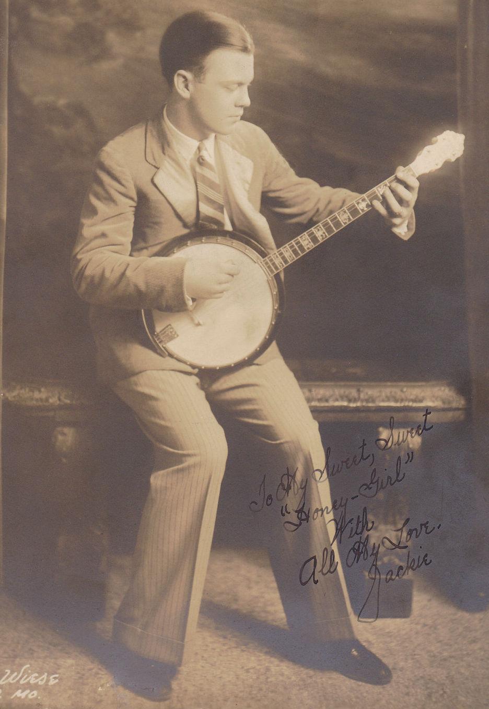 Vintage Guy Playing Banjo on Shag Dance Steps