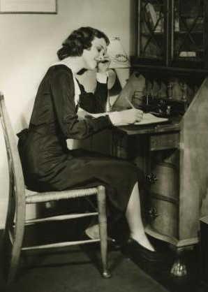 1930s 1940s vintage writer at desk