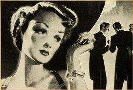 woman with gossip men